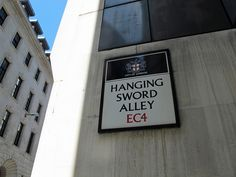 Hanging Sword Alley - London, England / Photo by Maggie Jones