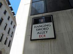 Hanging Sword Alley - London, England / Photo by Maggie Jones
