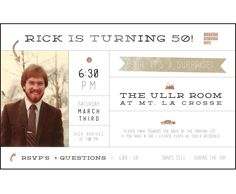 50th Birthday Invitation - Eva Black Design | Studio