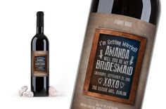 CUSTOM BEER LABELS. Ask Your Girls, Ask Bridesmaids, Ask Wedding Party, chalkboard Beer Bottle, Girls wine Bottle, Custom wine Bottle Labels by CreativeLabelDesigns on Etsy