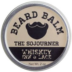 WHISKEY INK & LACE THE SOJOURNER BEARD BALM $15.00 #guys #grooming #beard #dapper #conditioner