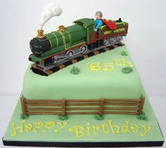 Steam Train Birthday Cake Ideas - Share this image!Save these steam train birthday cake ideas for later by share this imag Trains Birthday Party, Birthday Cakes For Men, Train Party, Male Birthday, Beautiful Cakes, Amazing Cakes, Thomas Cakes, 21st Cake, Steamed Cake