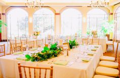 Rectangular tables are so elegant! Sweet Southern Wedding: Mariah + Josh
