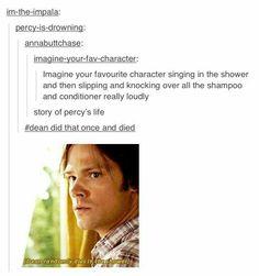 """Mystery Spot, that was Dean's funniest death!"""