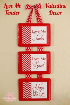 Love Me Tender Valentine Decor - Free Printable