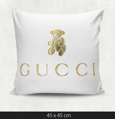 Gucci Gold Bear Pillow
