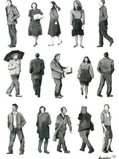 Watercolor for Everybody Architecture People, Architecture Collage, Architecture Drawings, Architecture Supplies, Figure Sketching, Figure Drawing, People Figures, Human Figures, Render People