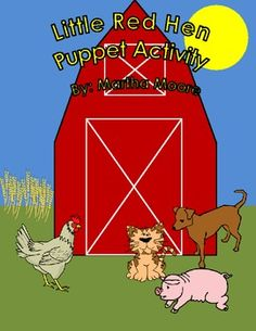 This is a fun stick puppet activity to use after reading The Little Red Hen. Students can make the puppets and then act out the story alone, in pairs, or in small groups. A backdrop for students to color and then use as a background is included.