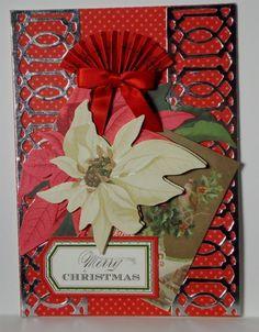 Happy Christmas Greeting Card Handmade Anna Griffin Inspired 209 #Handmade #Christmas