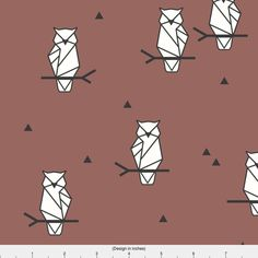 Geo Owls on Mauve - Origami Birds Geometric Birds Woodland Animals By Sunny Afternoon - Cotton Fabric by the Yard with Spoonflower by Spoonflower on Etsy https://www.etsy.com/nz/listing/513010290/geo-owls-on-mauve-origami-birds