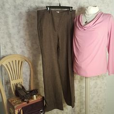Cowl neck top Very feminine dusky rose color blouse, perfect for the office. There is some pilling on the material as shown in the second picture, but it is barely noticeable. No stains or tears. Lane Bryant Tops Blouses