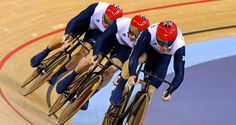 Men's Team Sprint Cyclists  Hindes, Hoy and Kenney | GOLD