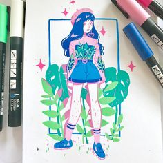 Another fun lil posca piece! ✨ I'm thinking of doing commissions like these at Sydney supernova! ✨ I really wanna draw some fun outfits!…