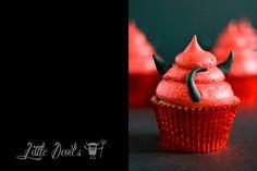 Getting Spooky & kooky - Halloween Caramel Cupcakes via Crumbs and Corkscrews >> http://crumbsandcorkscrews.co.uk/halloween-devil-sticky-toffee-cupcakes/
