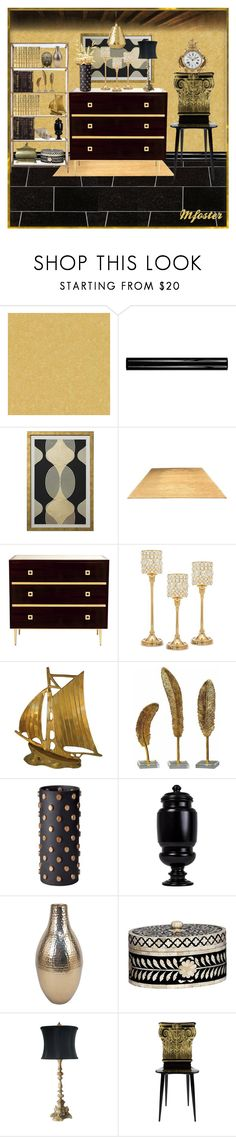 """A Statement Room"" by mfoster07 ❤ liked on Polyvore featuring interior, interiors, interior design, home, home decor, interior decorating, Versace, SomerTile, Godinger and Home Decorators Collection"