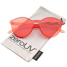 One Piece PC Lens Rimless Ultra-Bold Colorful Mono Block Sunglasses 60mm b40ec563c1