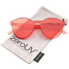 One Piece PC Lens Rimless Ultra-Bold Colorful Mono Block Sunglasses 60mm.  Óculos De Sol ... 033bda58fa