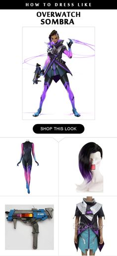 Overwatch Sombra Cosplay Costume Infographic