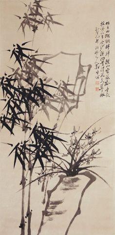 zheng banqiao   Zheng Xie (Banqiao) Qing Dynasty Bamboo and Orchid