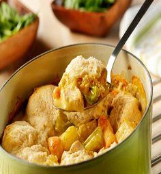 Crockpot Chicken & Dumplings-This is an 8 PointsPlus+ recipe, Makes 8 Servings, Serving Size = 1-1/4 cups per serving.