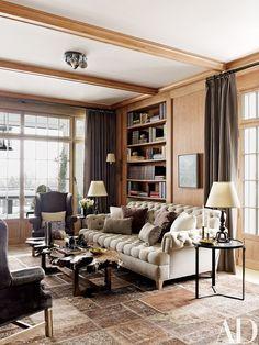 The library's Gambrel-designed sofa