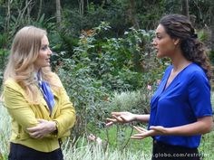 Débora Nascimento conversa com Angélica (Foto: Estrelas / TV Globo)