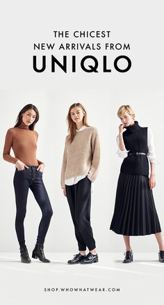 From cozy knits to flattering denim, Uniqlo has everything you need to update your fall wardrobe. Get your hands on our favorites… Casual Wear Women, Casual Outfits, Uniqlo Style, Uniqlo Women Outfit, Yeezy Fashion, Fall Outfits For Work, Fall Wardrobe, European Fashion, Autumn Winter Fashion