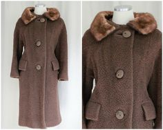 1950's Vintage Foxy Lady Brown Fox Fur Coat @ SweetLoveofMinecom at Etsy