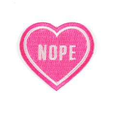 For that special person in your life - Embroidered fluorescent pink patch…
