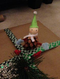 Christmas wrapping elf