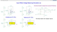 """Input Offset Voltage Balancing Circuit Simulation with TINACloud. New simulations in Chapter  """" 5. Practical Op-amps"""". You can test the Input Offset Balancing of the 2 circuits by simulation online with the TINACloud Circuit Simulator  by clicking the links below. http://www.tina.com/blog/new-circuits-in-tina-resources-input-offset-voltage-balancing-circuit-simulation-with-tinacloud/"""