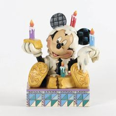 Mickey with Birthday Cake Figurine