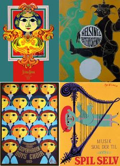 Bjørn Wiinblad - music posters