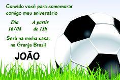 Essa arte é um convite de aniversário para uma criança que adora futebol e que estava fazendo 10 anos.