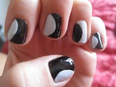 Moon Mani / Fresh take on the classic french manicure #nails