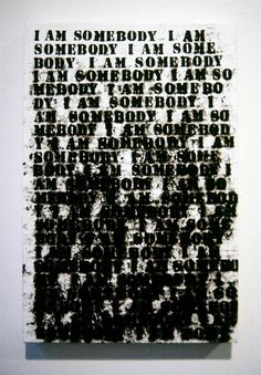 then-the-wind-changed:    I Am Somebody by Glenn Ligon, 1991