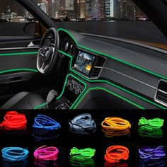 Car Interior LED EL Wire Rope Tube Line strip For bmw ford focus 2 toyota passat peugeot 307 chevrolet cruze skoda . Custom Car Interior, Car Interior Decor, Interior Lighting, Best Car Interior, Ford Interior, Interior Design, Chevrolet Cruze, Auto Hyundai, Bmw E46