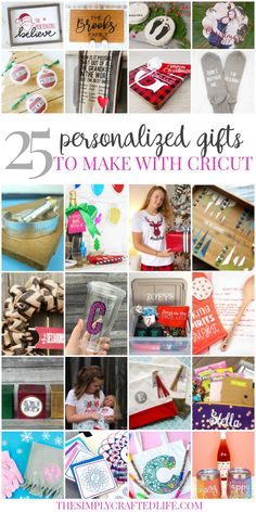 Personalized Christmas gifts are simple and easy to create with the help of your Cricut Explore Air 2 or Cricut Maker, and here are 25 fabulous ideas! Stationery Set, Personalized Stationery, Teacher Ornaments, Cricut Craft Room, Cricut Vinyl, Personalized Gifts For Kids, Diy Gifts For Friends, Vinyl Crafts, Vinyl Projects