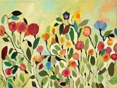 kim parker art | Wild Field Stretched Canvas Print by Kim Parker at Art.com