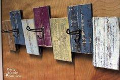 scrap wood craft ideas | crackled