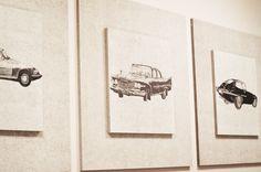 Classic cars, decorative acoustic wall panels