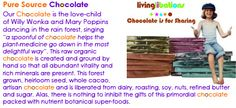 """Your Purple Chocolate Jesus is the Best!"""" ~ Shanti & Gabriel Cousens, author of Spiritual Nutrition, Conscious Eating """"Living Libations Chocolate bursts through all confectionary myths."""" ~ David Wolfe, author of Eating for Beauty. Find it at: http://www.livinglibations.com/?a_aid=54849e90172d2 #raw #chocolate"""