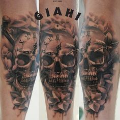 Skull tattoos by John Maxx 2