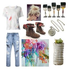 """""""So What If I'm Messy?"""" by marin-marine ❤ liked on Polyvore featuring Off-White"""