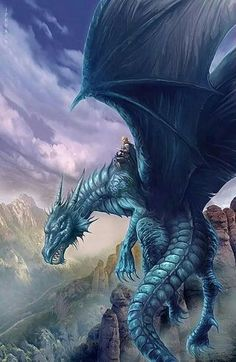 Artwork: blue dragon by fantasy artist Jan Patrik Krasny. See more artwork by this featured artist on the fantasy gallery website. Magical Creatures, Fantasy Creatures, World Of Fantasy, Fantasy Art, Fantasy Wesen, Dragon Medieval, Medieval Tattoo, Art Steampunk, Dragon Dreaming