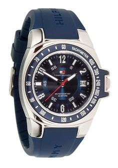 Tommy Hilfiger Men's 1790483 Blue Rubber Watch *** You can get additional details at the image link. (This is an Amazon Affiliate link and I receive a commission for the sales)