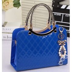 brand bag cute tote 2016 New Fashion Designer Large PU Leather Tote Shoulder Bag Handbag Ladies Messenger chain plaid A40-375