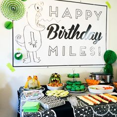 Throw a monster themed party for your kid's party! I had my son draw monsters and then made them in to decorations around the party. It was a fun way to get the birthday boy involved!