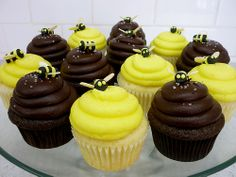 I can easily make bumble bees to top them. We can have dark cupcakes, yellow icing, & little bees. Easy peasy. Esp. if Nanny makes the cakes