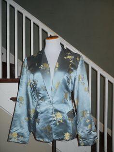 Size Large Barbara Lesser Printed Blazer by MahoganyBleu on Etsy